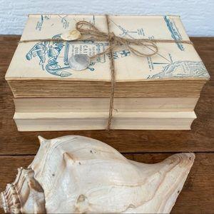 Vintage Accents - Shabby Chic Vintage Book Decor Unbound Tied Bundle